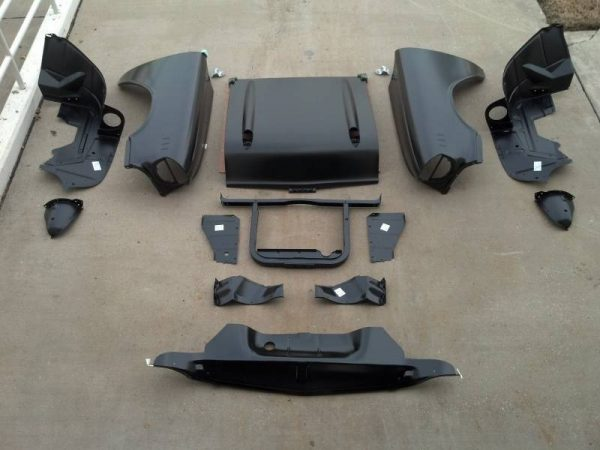 GM - 1957 Chevy Bel Air & 210 Series Complete Front End Sheetmetal Package With 6-Cylinder Core Support