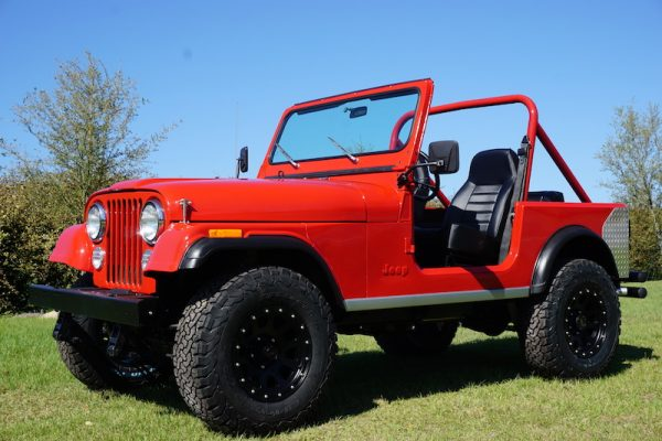red cj 7 jeep