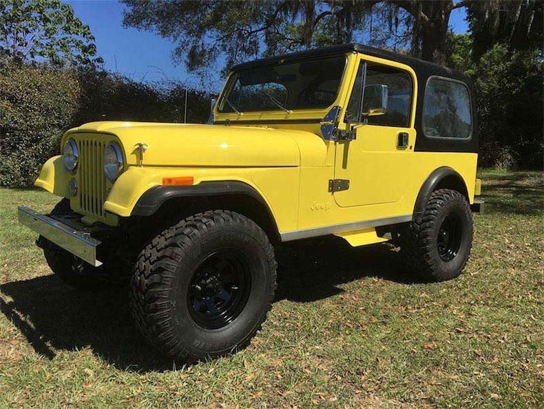 yeloow cj7 jeep 1