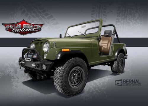 cj 7 jeep green