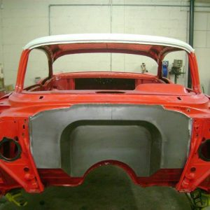 1957 Chevy 4' Recessed Smoothie Steel Firewall Upgrade - Image 1