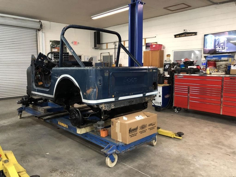 Beginning of the 1982 jeep cj7 restoration