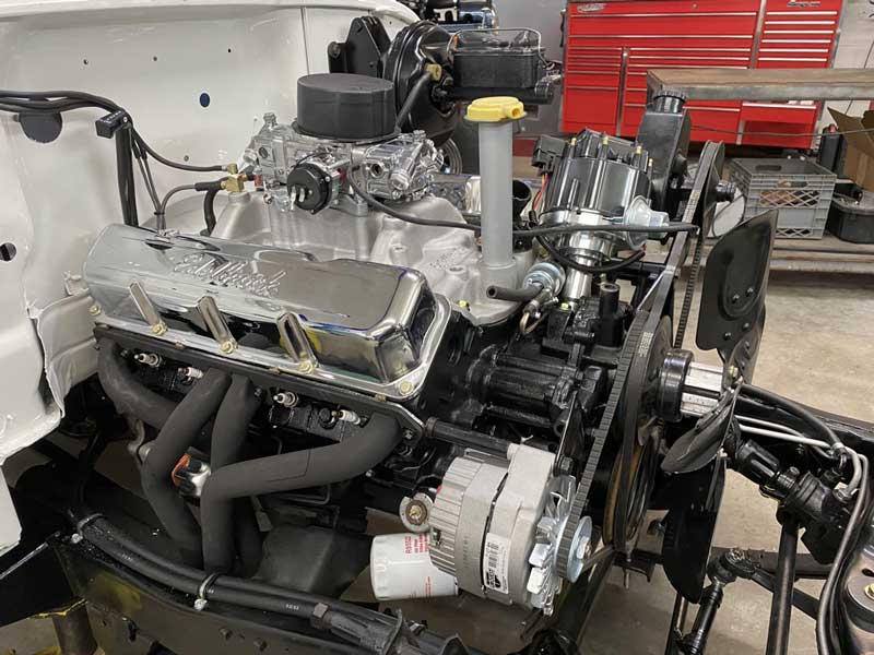 side view of the new engine