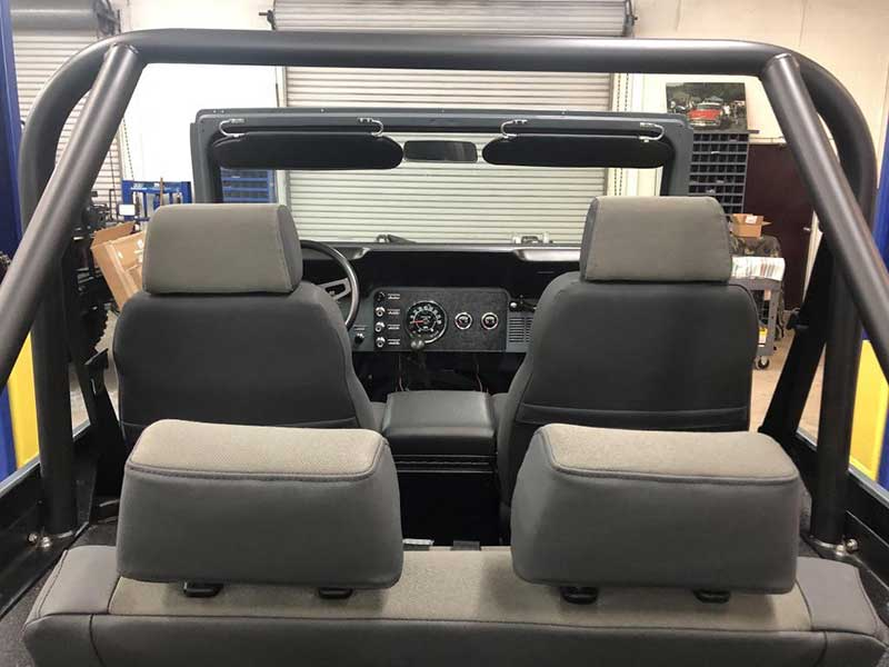 Awesome Interior Look After Finishing V8 1978 Jeep CJ7 Restoration
