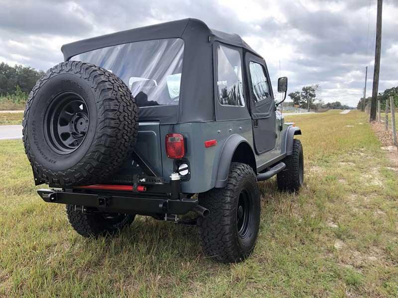 Brand New Black Satin Bestop Soft Top And New Front Soft Doors on Adam's V8 1978 Jeep CJ7 Restored