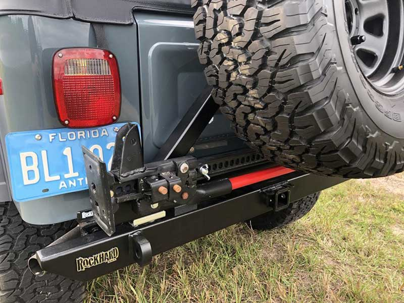 New Rock Hard Rear Bumper Along With A Skyjacker And A Spare Tire Holder As One Of Exterior Improvements