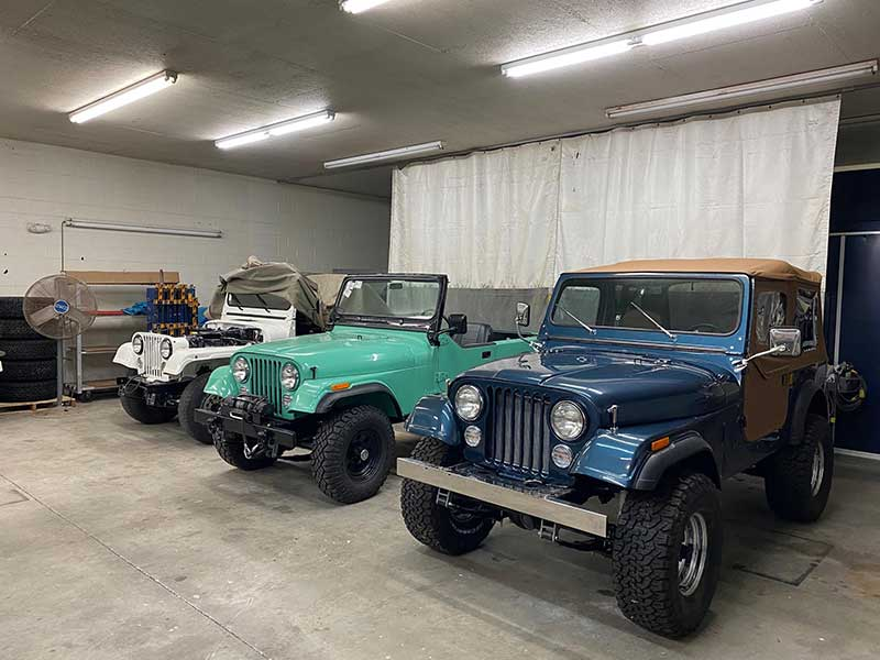 Restoration Of Three Jeep CJ7 at Palm Beach Customs